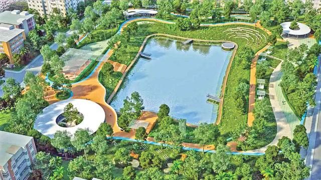 গুলশানে জলনির্ভর নিসর্গ
